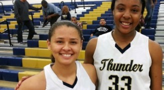 Desert Vista's top-rated junior prospects, 5-foot-9 junior guard Sabrina Haines and 6-foot-4 junior post Kristine Anigwe.  Haines and Anigwe have Desert off to an excellent, 9-0 record on the season.